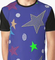 Seamless background with blue pattern Graphic T-Shirt