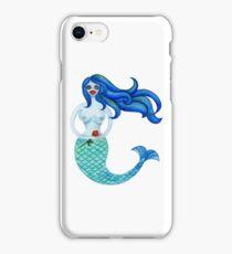 Mermaid with rose iPhone Case/Skin