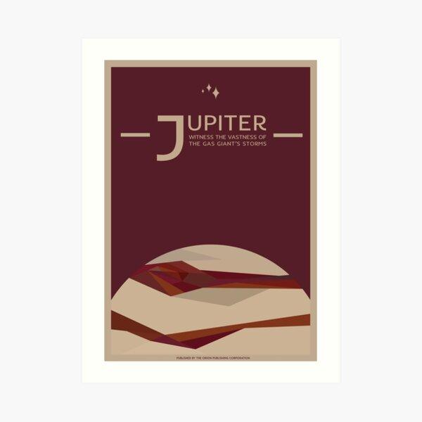 Art Deco Space Travel Poster - Jupiter Art Print