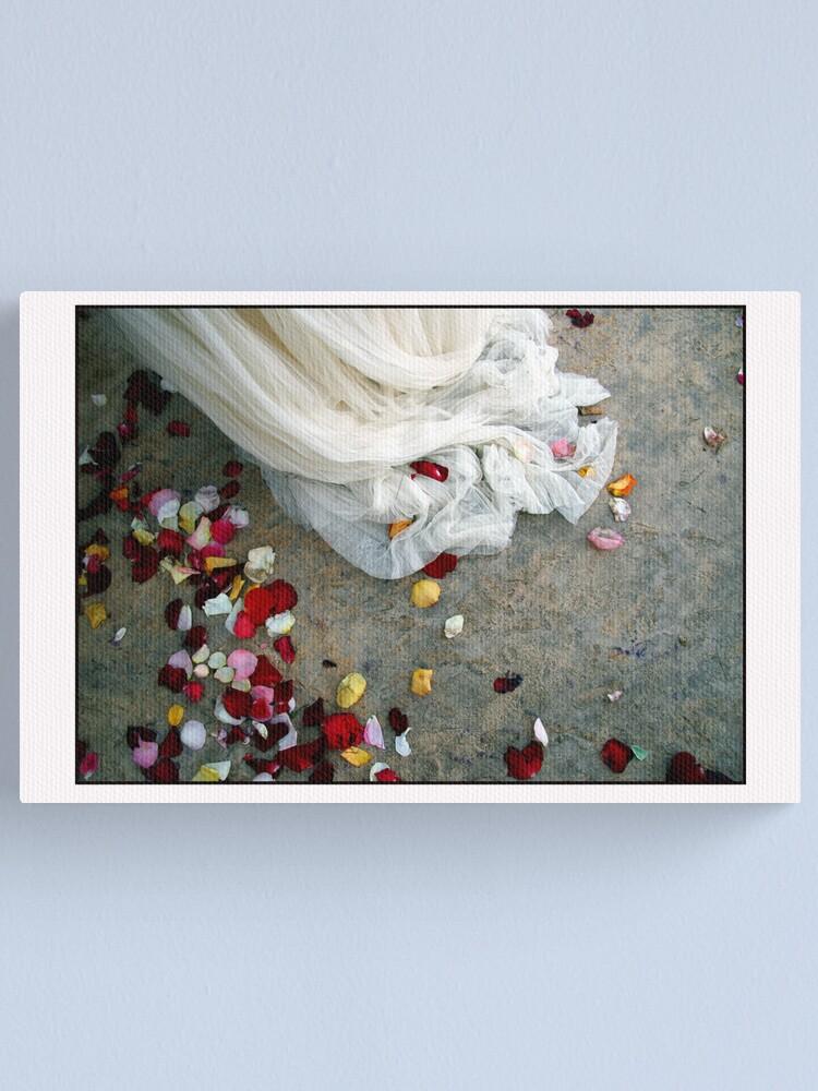 Alternate view of Wedding Dress Detail Dos Canvas Print