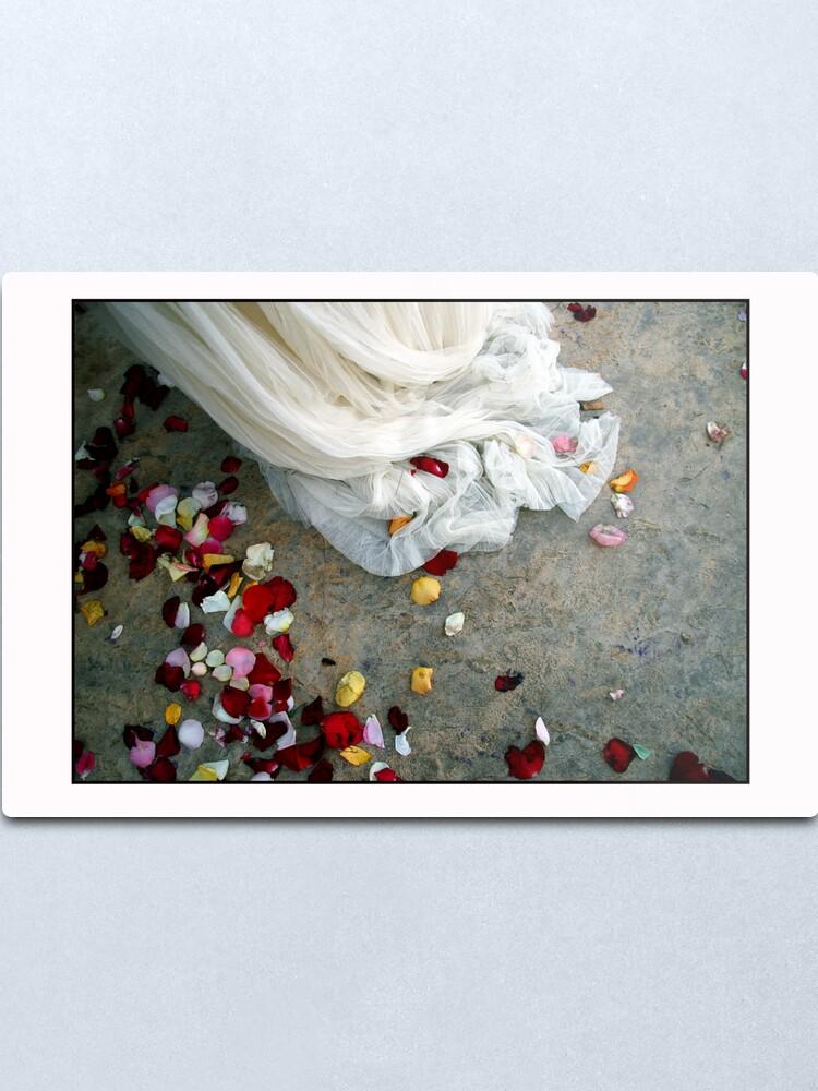 Alternate view of Wedding Dress Detail Dos Metal Print
