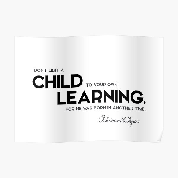 child learning - rabindranath tagore Poster