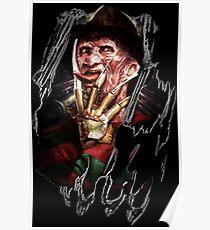 Póster Las mejores películas de terror para regalos de Halloween Freddy Krueger
