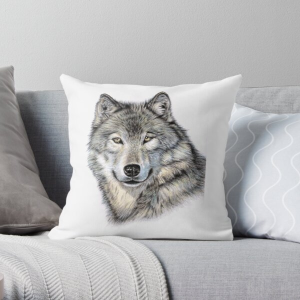 The Wolf - Der Wolf Throw Pillow