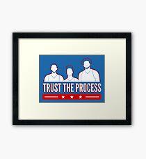 Vertraue dem Prozess Gerahmtes Wandbild