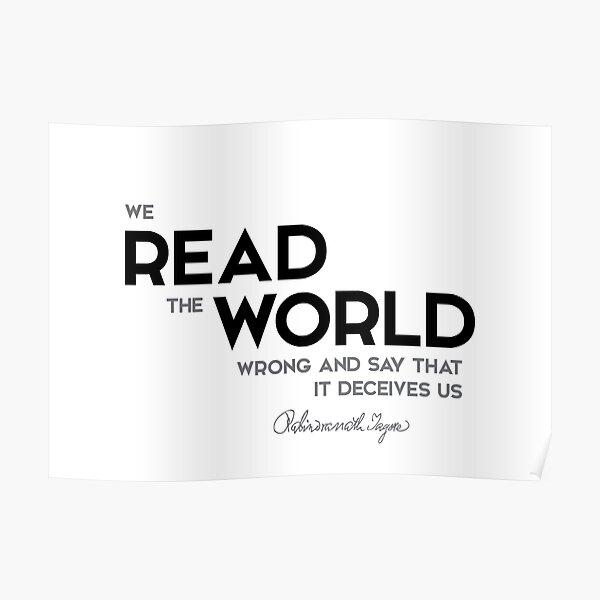 read the world - rabindranath tagore Poster