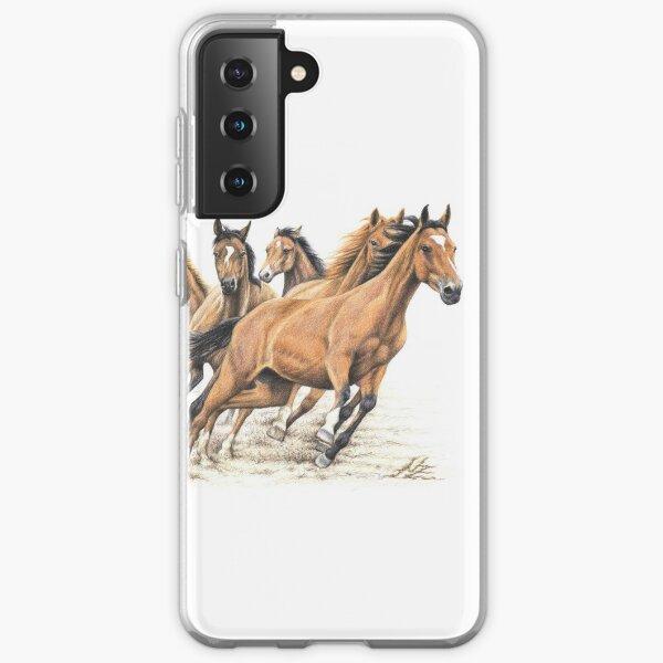 Trakehner Horses - Trakehner Pferde Samsung Galaxy Flexible Hülle
