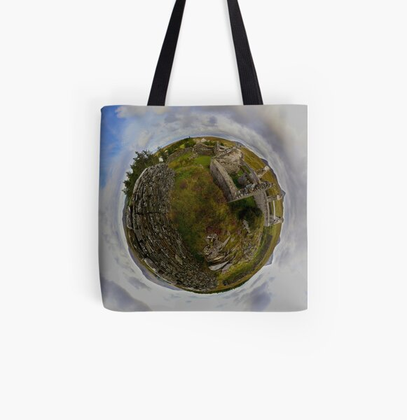 Ruins at Cashelnagor, County Donegal, Ireland All Over Print Tote Bag