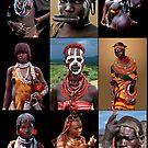 AFRICAN TRIBAL LADIES by Michael Sheridan