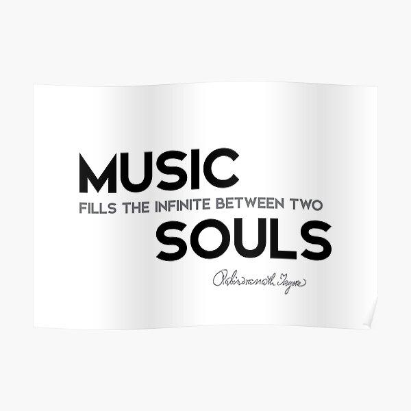 music souls - rabindranath tagore Poster