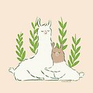 Little Llama Hug by zoel