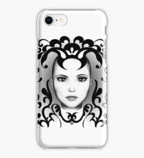 Black and white ornamental Joker iPhone Case/Skin