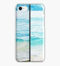 Tangy Turquoise Sea and Rocks Multi-Lens Black Border Vintage Photo iPhone Case/Skin