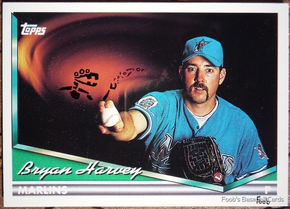 326 - Bryan Harvey by Foob's Baseball Cards