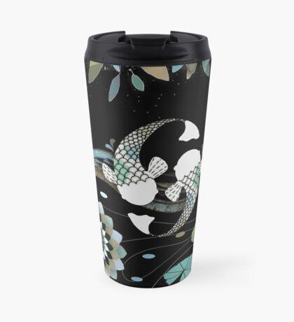 Lucky Koi Mandala Travel Mug