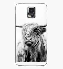 portrait of a highland cow (landscape format) Case/Skin for Samsung Galaxy