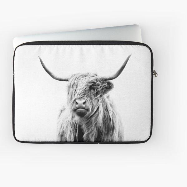 portrait of a highland cow (landscape format) Laptop Sleeve