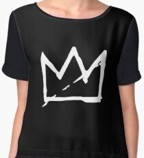 WHITE BASQUIAT CROWN Women's Chiffon Top