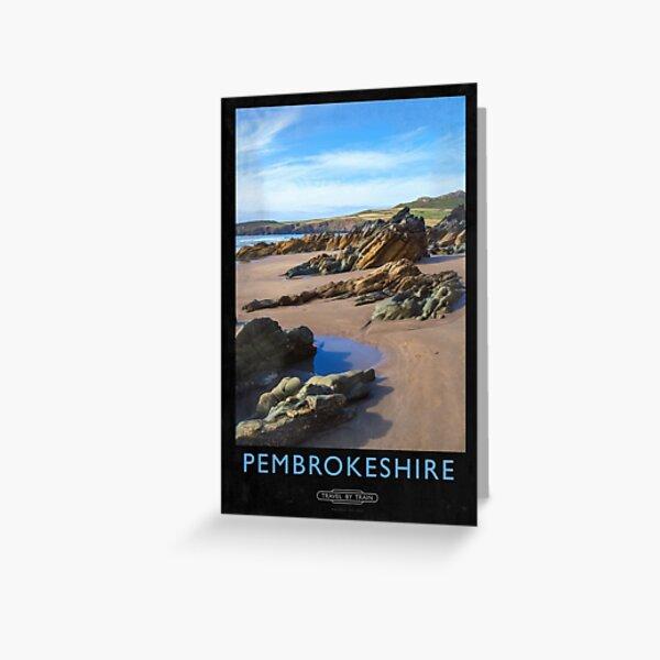 Pembrokeshire Railway Poster Greeting Card