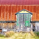 Old colorful barn by Manon Boily