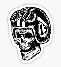 Motorcycle Skull Racer - 13 Sticker