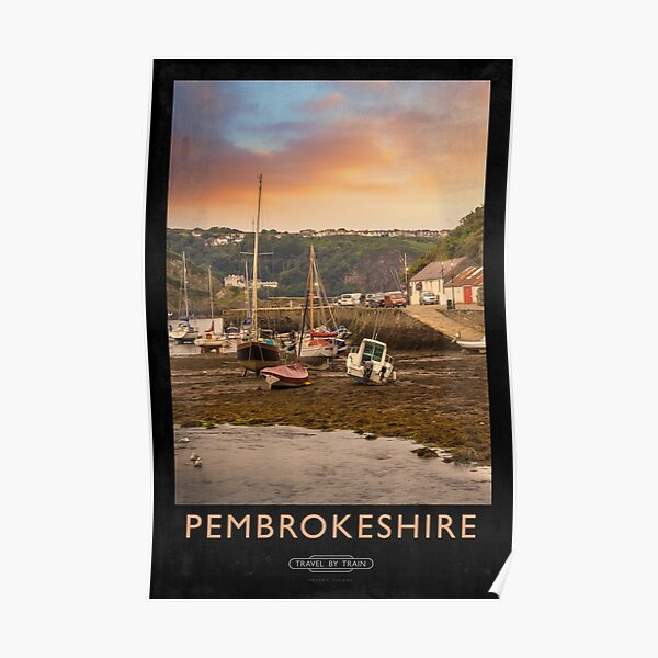 Pembrokeshire Railway Poster Poster