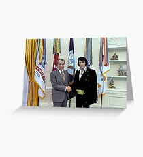 Richard M. Nixon and Elvis Presley at the White House - 12/21/1970 Greeting Card