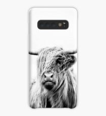 portrait of a highland cow Case/Skin for Samsung Galaxy