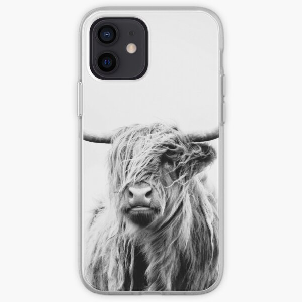 portrait of a highland cow iPhone Flexible Hülle