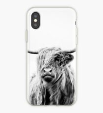 portrait of a highland cow iPhone-Hülle & Cover