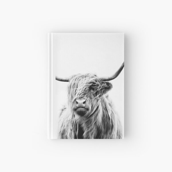 portrait of a highland cow Hardcover Journal