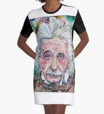 Vestido camiseta ALBERT EINSTEIN - retrato de acuarela.13