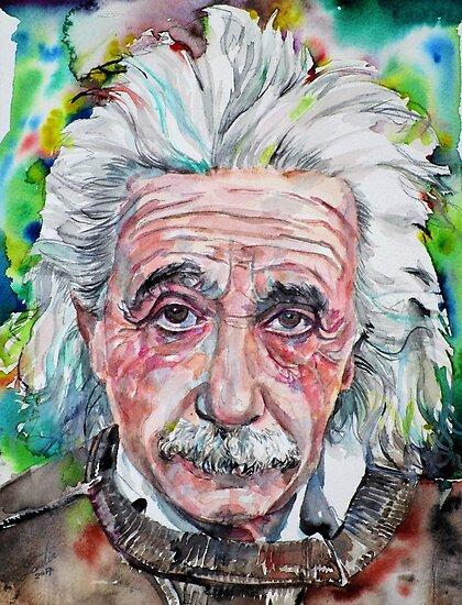 «ALBERT EINSTEIN - retrato de acuarela.13» de lautir