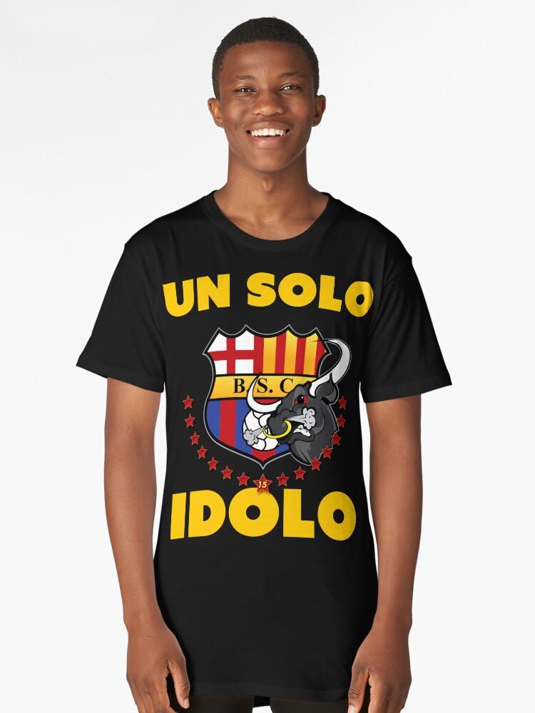 """Barcelona Sporting Club """"Un solo Idolo"""" Long T-Shirt Front"""