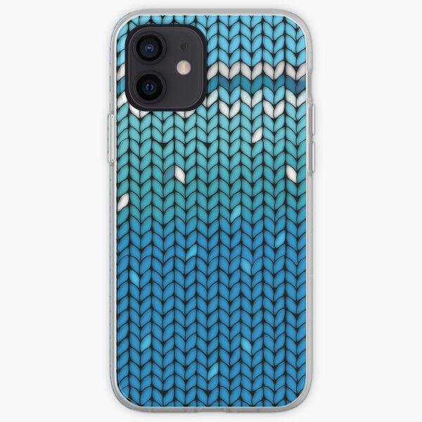 Aquamarine Knit iPhone Soft Case