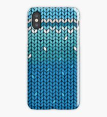 Aquamarine Knit iPhone Case/Skin