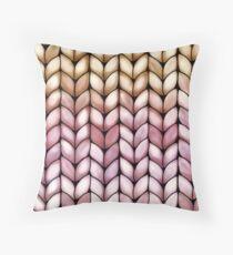 Chunky Raspberry Caramel Knit Throw Pillow