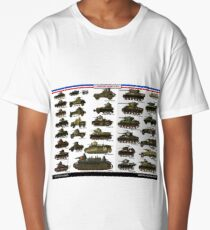 French Tanks of ww2 Long T-Shirt