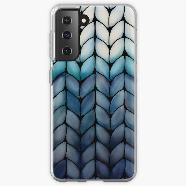 Chunky Ocean Blue Knit Samsung Galaxy Soft Case