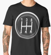 Gear, Knob, Gear shift knob, Stick, Shift, Car, Cars, Motorsport, Motoring, Race, Racing Men's Premium T-Shirt