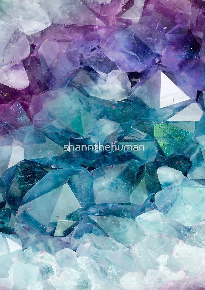 Crystal Stones with Purple & Aqua Hue by shannthehuman