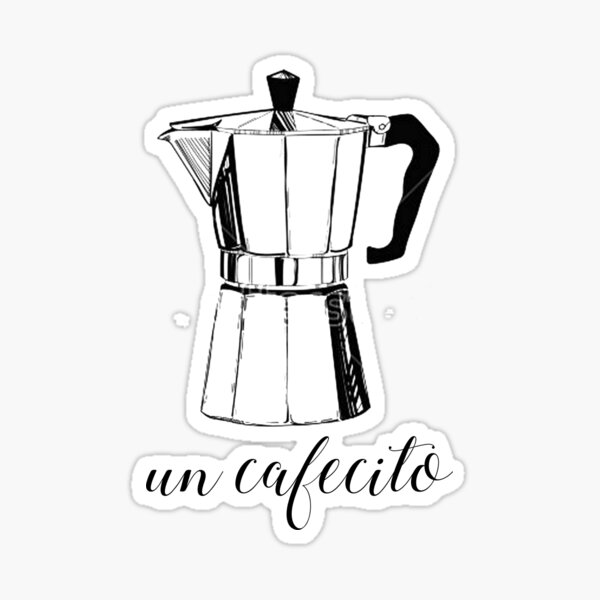 Un Cafecito, coffee Sticker