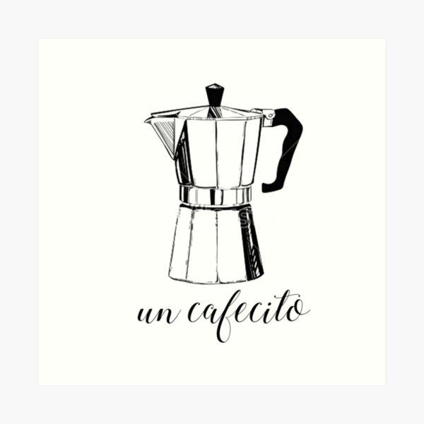 Un Cafecito, coffee Art Print