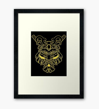 Golden Samurai Framed Print