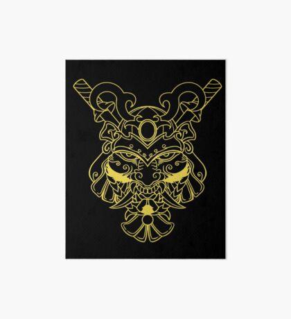 Golden Samurai Art Board Print
