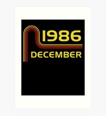 December Vintage Retro Birthday  1986  31st T-Shirt Sweater Hoodie Iphone Samsung Phone Case Coffee Mug Tablet Case Gift Art Print