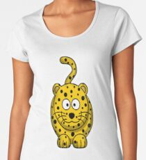Leopard, Cartoon, Cute, Spotty, Big Cat, Yellow, CAT Women's Premium T-Shirt