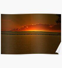 Hervey Bay jetty sunrise Poster
