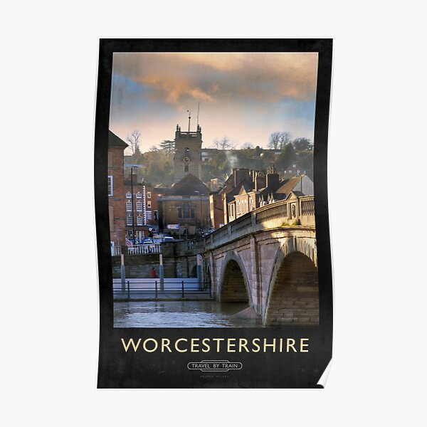 Worcestershire Railway Poster Poster