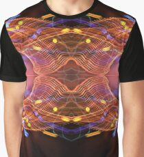 Psychedelic Light Painting Graphic T-Shirt